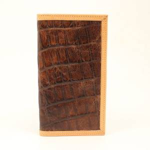 Ariat Crocodile Tan Edge Rodeo Wallet