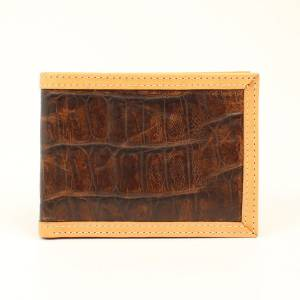 Ariat Crocodile Tan Edge Bi-Fold Wallet