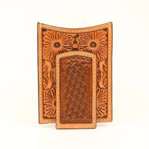 Ariat Floral Embossed Card Case with Money Clip