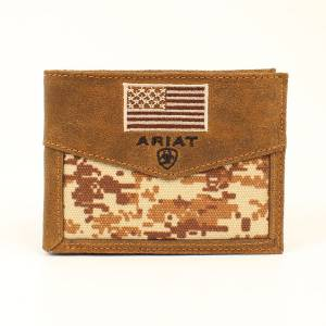 Ariat Digital Camo Flag Bi-Fold Wallet