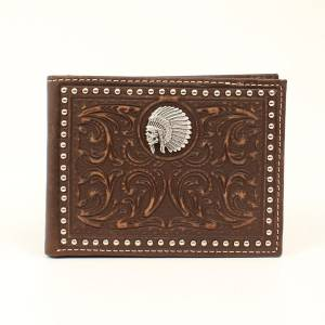 Ariat Chief Skull Embossesd Bi-Fold Wallet