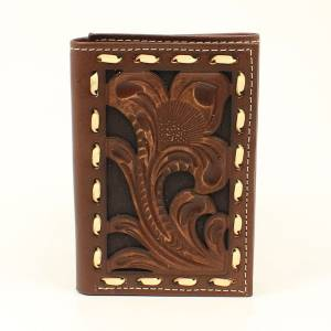 Ariat Embossed Laced Tri-Fold Wallet