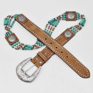 Nocona Ladies Beads & Floral Concho Belt