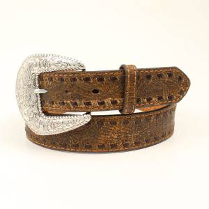 Nocona Ladies Rustic Laced Edge Belt
