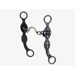 Metalab Southwest Collection Grey Steel Cross Ported Chain Bit