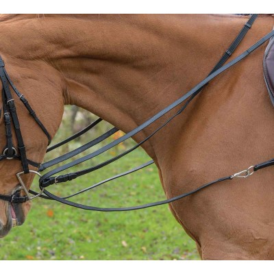 Shires Avignon Leather Draw Reins