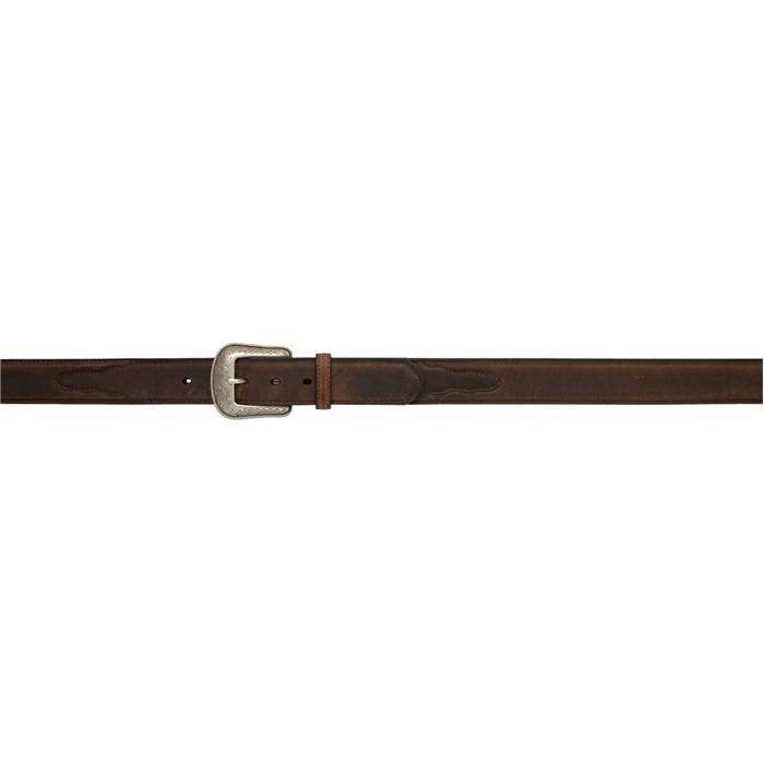3D 1 12 Western Basic Belt with Overlay Mens Brown