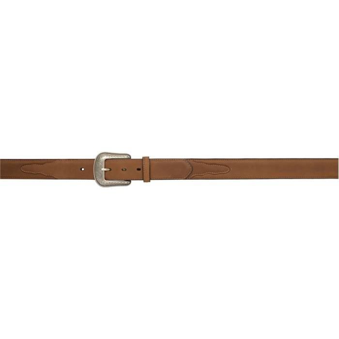 3D 1 12 Single Stitch Western Basic Belt Mens Brown