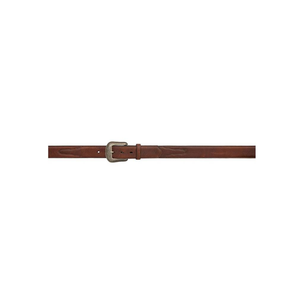 "3D 1 1/2"" Distressed Pebble Grained Western Basic Belt - Men's - Dark Brown"