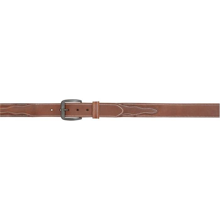 3D 1 12 Heavyweight Billet Overlay Western Basic Belt Mens BrownWhite Stitch