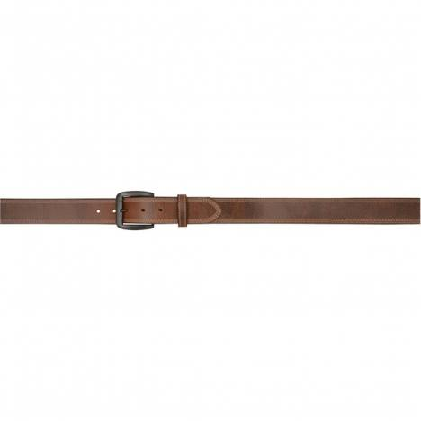"3D 1 1/2"" Vintage Single Ply Western Basic Belt - Men's - Brown with Grey Stitch"