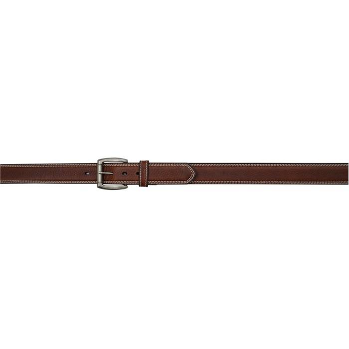"""3D 1 1/2"""" Contast Stitch Western Basic Belt - Men's - Brown"""