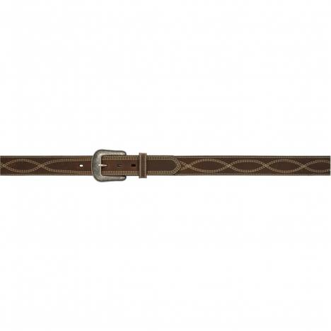 "3D 1 1/2"" Figure-8 Stitch Western Fashion Belt - Men's - Dark Brown"