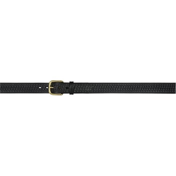 3D 1 12 Basketweave Embossed Western Basic Belt Mens Black