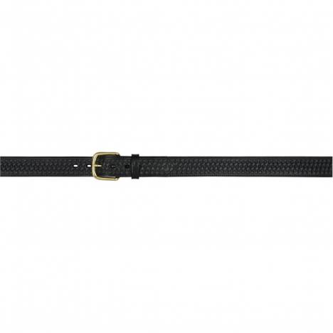 "3D 1 1/2"" Basketweave Embossed Western Basic Belt - Men's - Black"