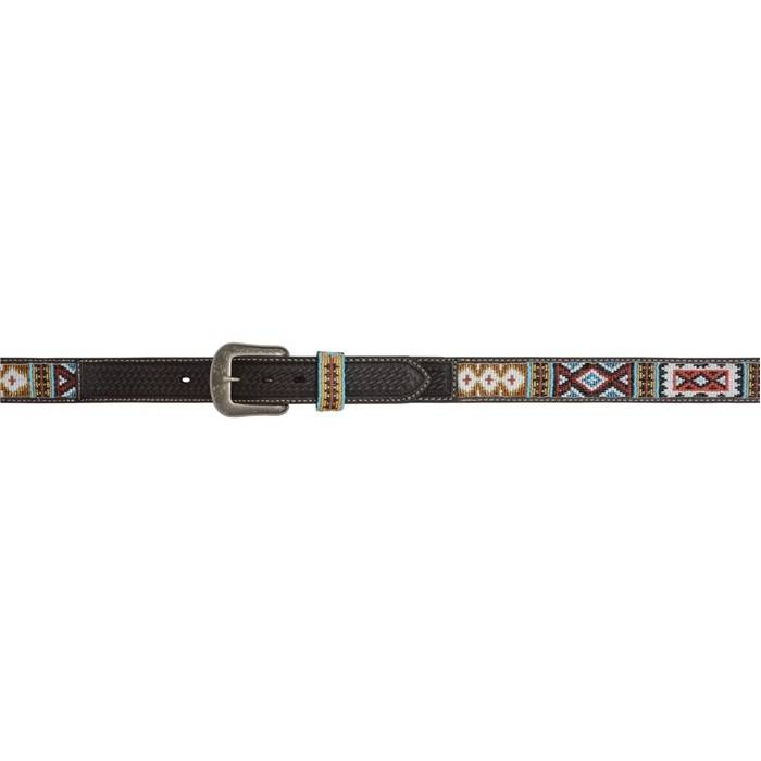 3D 1 12 Aztec Western Fashion Belt Mens ChocolateMuti