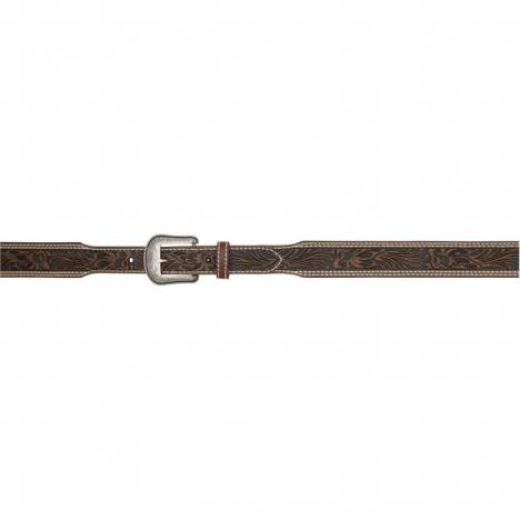 "3D 1 3/4"" Floral Tapered Western Fashion Belt - Men's - Dark Brown"