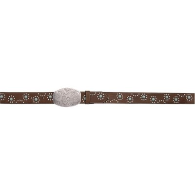 Angel Ranch Circle Western Fashion Belt - Ladies - Brown/Turquoise