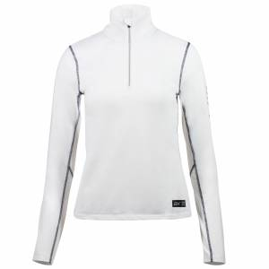 B Vertigo  Roxane Long Sleeve Zip Polo Shirt - Ladies