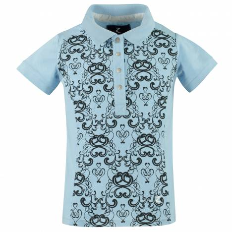 Horze Natalie Stretch Print Polo Shirt - Kids