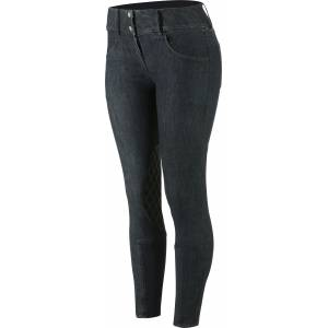 Horze Denim Silicone Knee Patch Breeches -  Ladies
