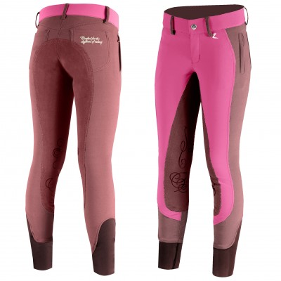 Horze Kiana Leather Full Seat Breeches - Kids