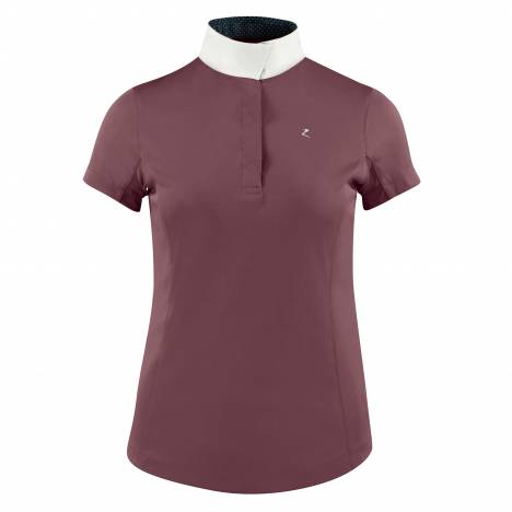HorZe Crescendo Blaire Short Sleeve Functional Show Shirt - Ladies - Barely Pink