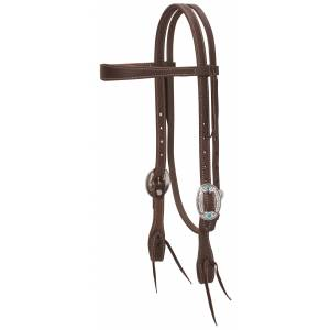 Weaver Working Tack Feather Designer Hardware Slim Browband Headstall