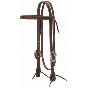 Weaver Working Tack Feather Designer Hardware Straight Browband Headstall