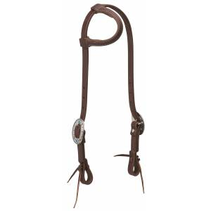 Weaver Working Tack Feather Designer Hardware Sliding Ear Headstall