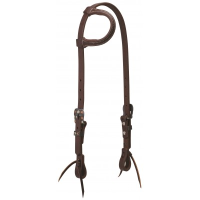 Weaver Working Tack Chevron Designer Hardware Sliding Ear Headstall