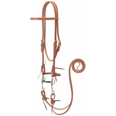 Weaver Harness Leather Bridle - All Purpose Bit, Canyon Rose