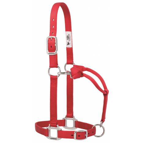 Weaver Original Adjustable Nylon Halter with Chrome Plated Hardware