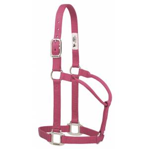 Weaver Original Non-Adjustable Nylon Halter with Chrome Plated Hardware