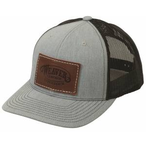 Weaver Mesh Back Cap with Leather Patch