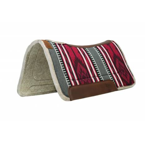 Weaver 32x32 Working Contoured Felt Saddle Pad - Bi-Colors