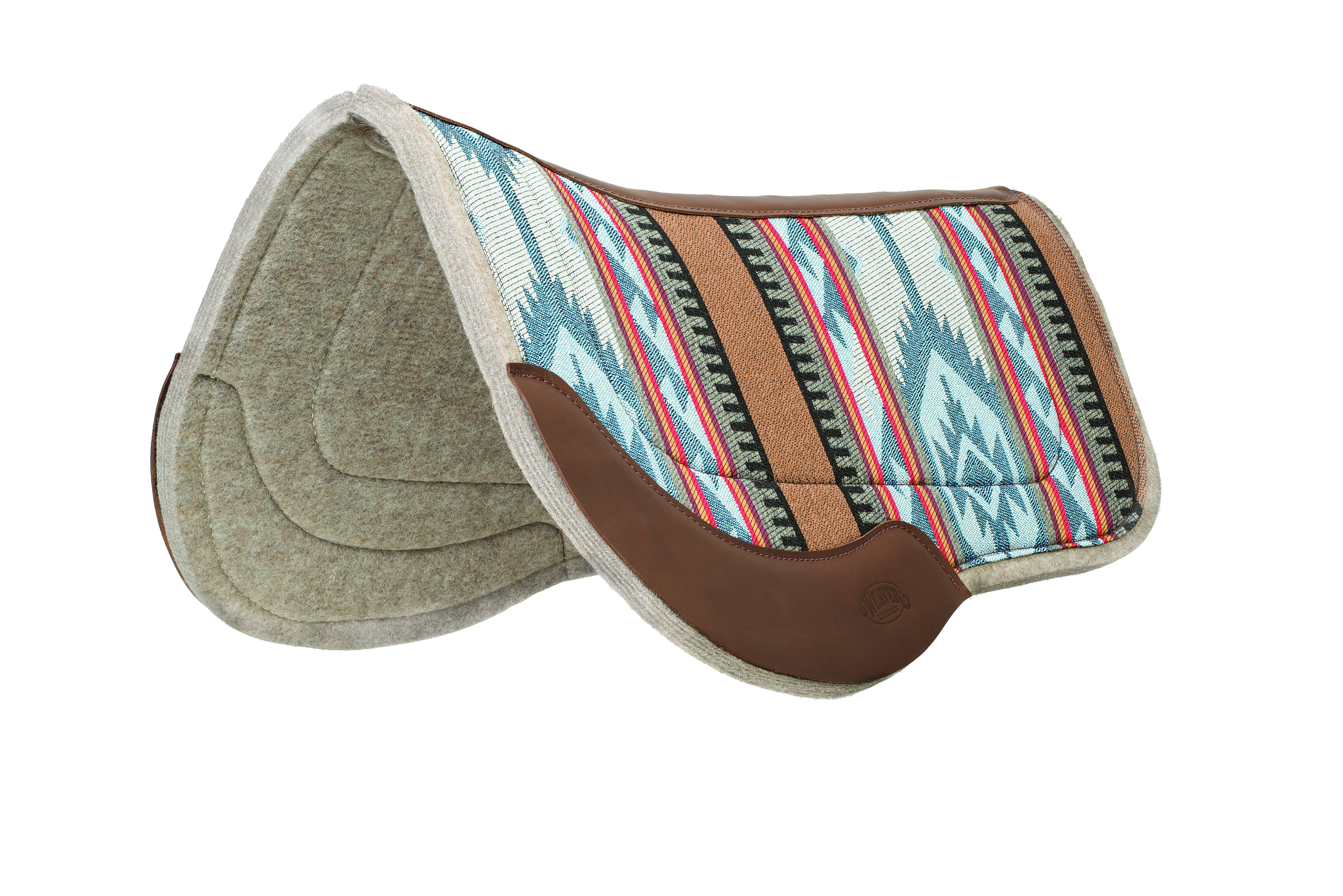 Weaver 29x34 Trail Gear Canvas Felt Bottom Saddle Pad Blue