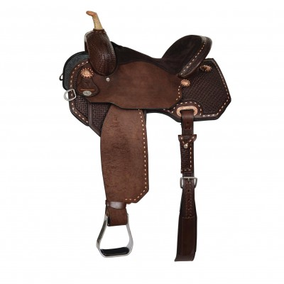 Circle Y Badlands Flex2 Buckstitch Barrel Saddle