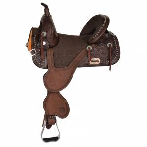 Circle Y Fischer Remuda Treeless Barrel Saddle