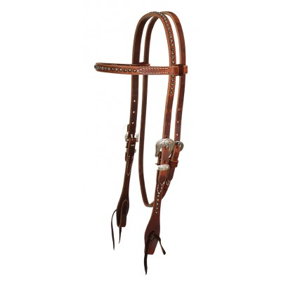 Reinsman Rosewood Harness Browband Headstall with Dots