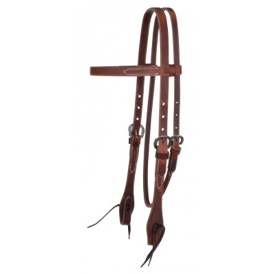 Reinsman Classic Smooth Rosewood Harness Browband Headstall