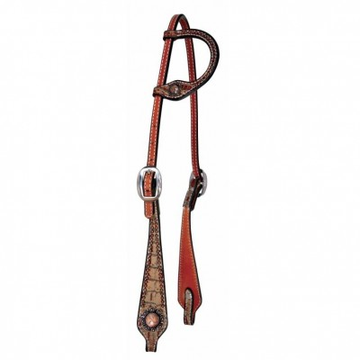 Reinsman Camarillo Sure Fit Copper Berry One Ear Headstall