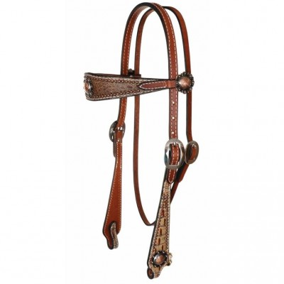Reinsman Camarillo Sure Fit Copper Berry Browband Headstall