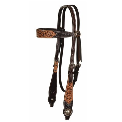 Circle Y Multi-Tone Painted Browband Headstall