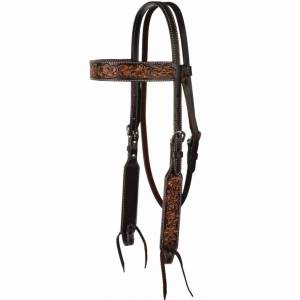 Circle Y Multi-Tone Filigree Browband Headstall