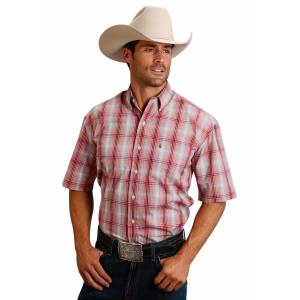 Stetson 0985 Crosshair Ombre Short Sleeve Shirt - Mens