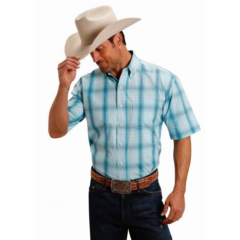 Stetson 1511 Storm Plaid Short Sleeve Shirt - Mens