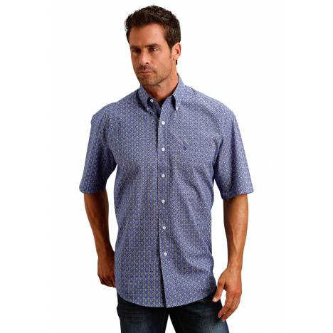 Stetson 1654 Tile Foulard Short Sleeve Shirt - Mens