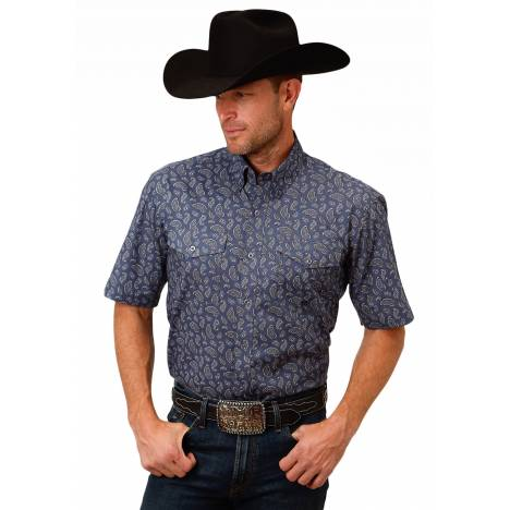 Roper 1520 Agate Paisley Short Sleeve Shirt - Mens