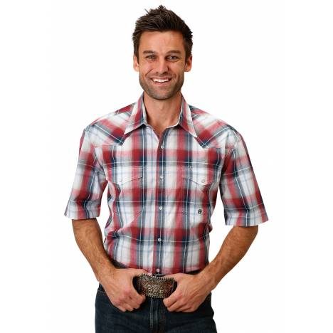 Roper 1679 Independence Plaid Short Sleeve Shirt - Mens